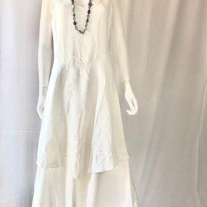 NWOT Sundance White Linen Dress
